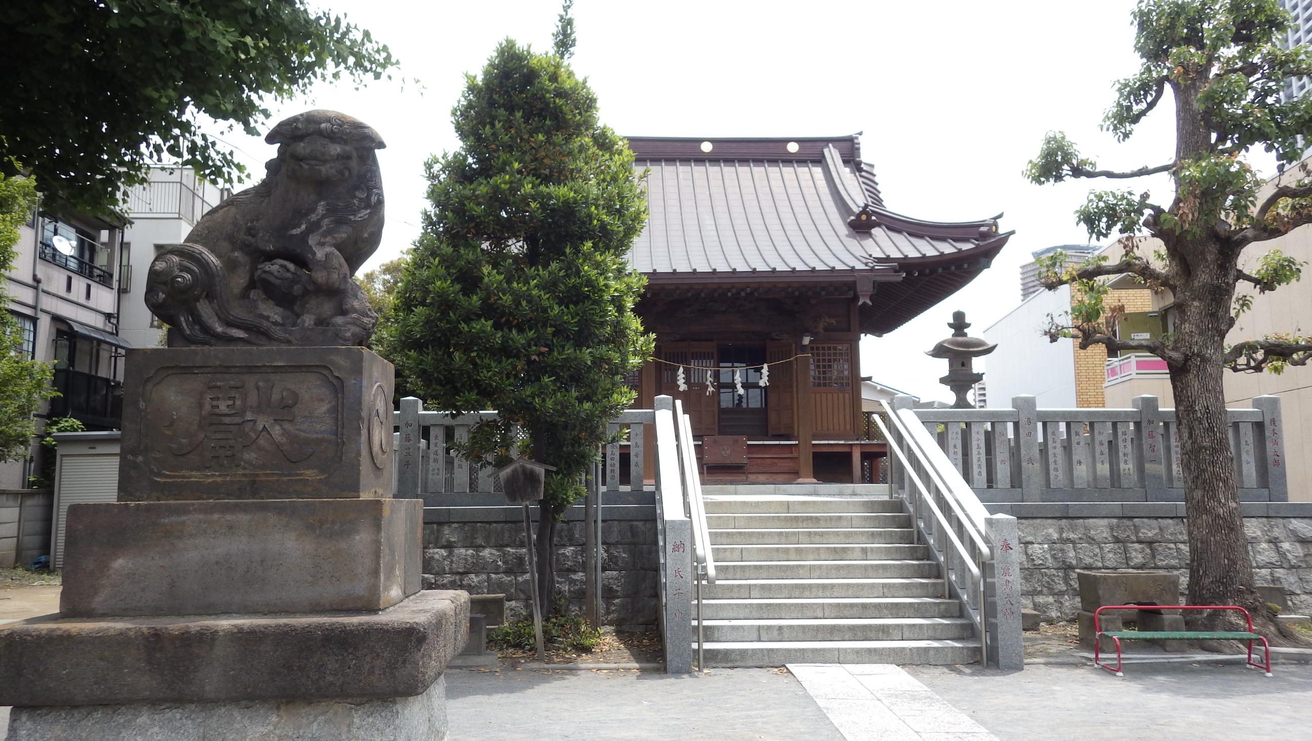 さいわい歴史ガイドマップ 鹿島田〜塚越付近